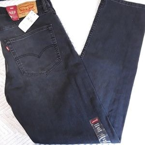 NWT Levi's 522 Slim Taper Jeans 36x34 Black